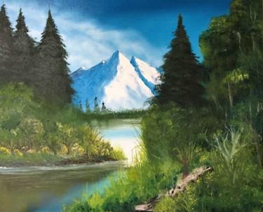 """Peinture intitulée """"Alpes"""" par Francis Bocquet, Œuvre d'art originale, Huile"""